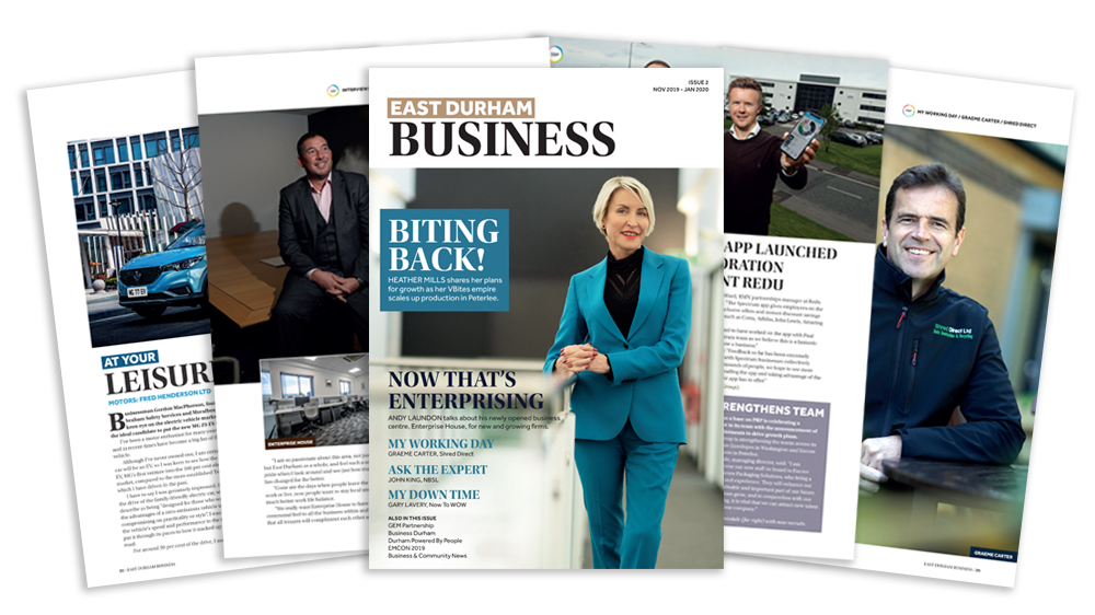 ENCON featured in issue two of East Durham Business magazine