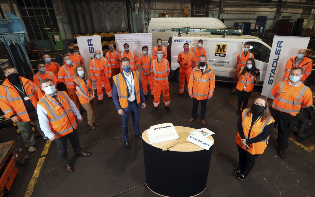 HEADLINE SPONSOR NEWS: Stadler takes on 120 staff from Nexus and assumes responsibility for looking after the Tyne and Wear Metro fleet