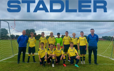 Stadler sponsors: Whitley Bay Football Club junior team